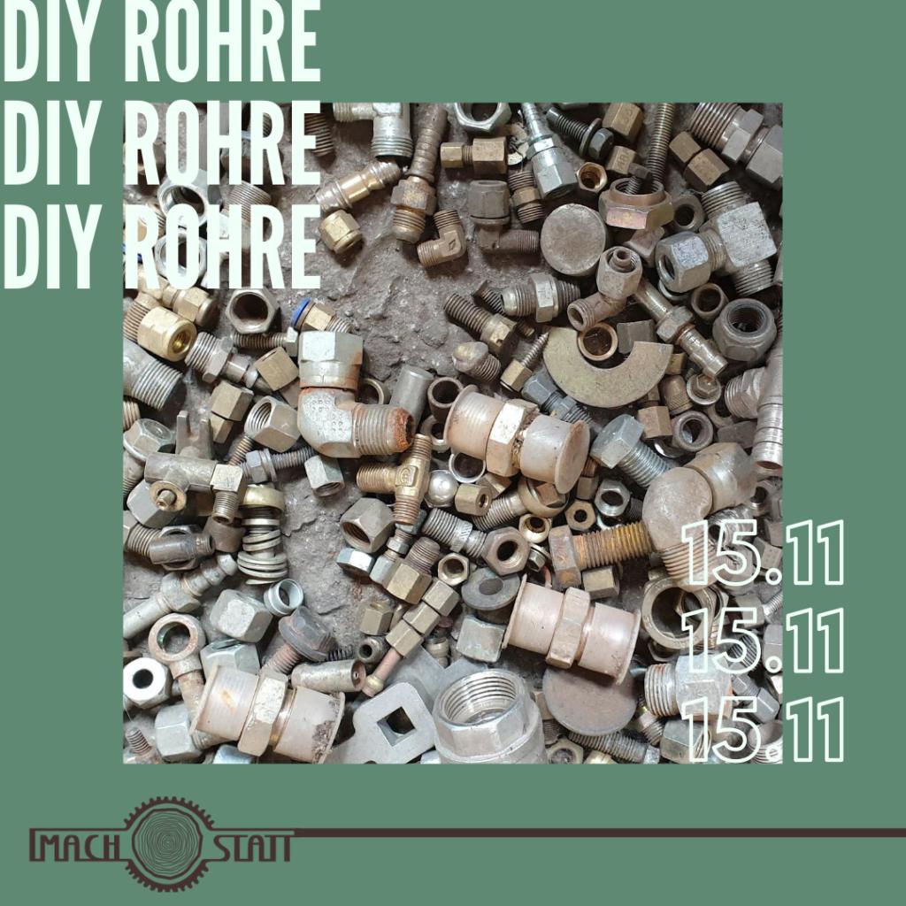 kreatives Arbeiten mit Rohren Workshop in der Alten Münze